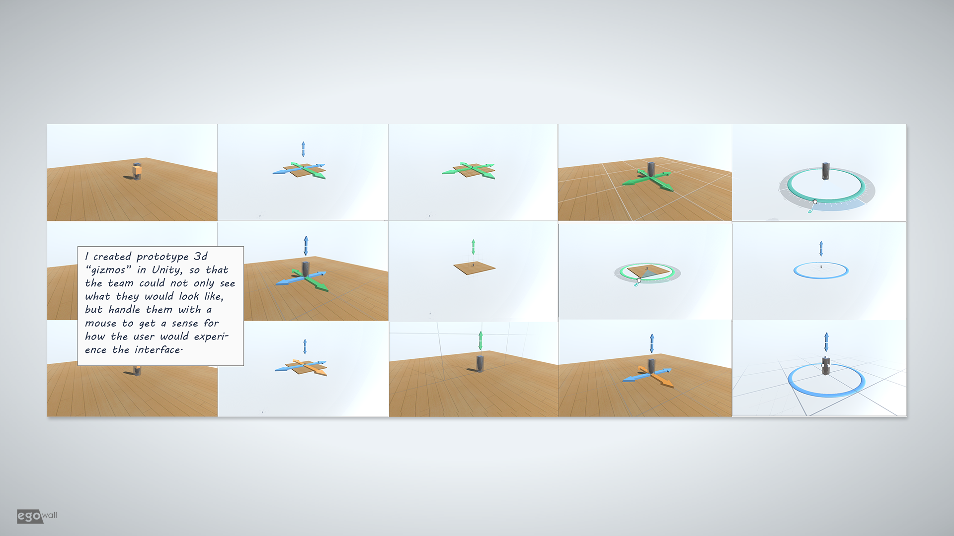 Prototype 3d object manipulation interfaces.